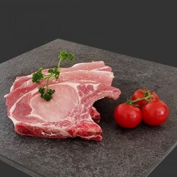 Côte de porc première (pièce 200gr)  9,20 € /kg